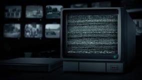 Écran de télévision en circuit fermé sans le signal banque de vidéos