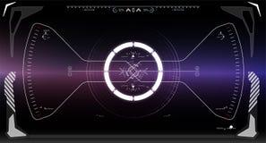 Écran de technologie de réalité de Vitrual La science fiction HUD Dashboard Display futuriste Photos stock