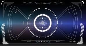 Écran de technologie de réalité de Vitrual La science fiction HUD futuriste Photos stock