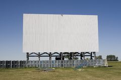 Écran de théâtre de drive-in Images libres de droits