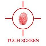 Écran de Tuch Photo libre de droits