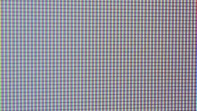 Écran de TV ou d'ordinateur en plan rapproché extrême banque de vidéos