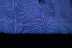Écran du problème TV Erreur analogue originale sur l'écran de TV Photo stock