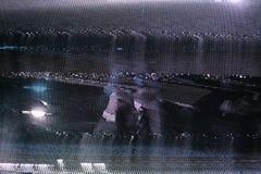 Écran du problème TV Erreur analogue originale sur l'écran de TV Image libre de droits