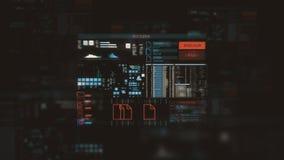 Écran futuriste d'interface numérique