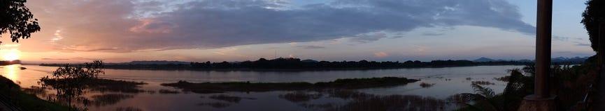 Écran géant de crépuscule Photo libre de droits