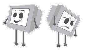 Écran heureux et de cri d'ordinateur illustration de vecteur