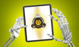 Écran interactif Images stock
