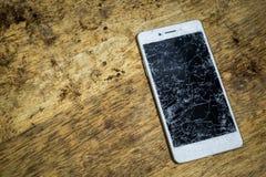 Écran mobile cassé Photographie stock libre de droits