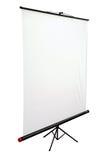 Écran portatif blanc de projecteur Photo libre de droits