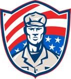 Écran protecteur américain de soldat de patriote Photo libre de droits