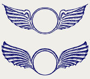 Écran protecteur avec des ailes Photo stock