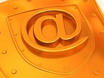 Écran protecteur avec le symbole pour l'Internet. 3d illustration stock