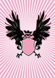 Écran protecteur avec les ailes noires Photo libre de droits