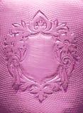 Écran protecteur blanc, conception florale, gravant Photographie stock