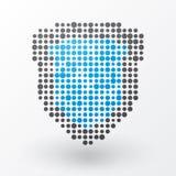 Écran protecteur bleu Images libres de droits