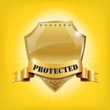 Écran protecteur d'or de garantie lustrée - PROTÉGÉ illustration libre de droits