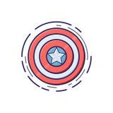 Écran protecteur de protection Illustration de vecteur héros Étoile illustration libre de droits