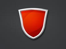 écran protecteur du rouge 3D Photos stock