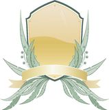 Écran protecteur héraldique avec elements.jpg floral Photos stock