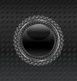 Écran protecteur héraldique de cercle sur le fond métallique Photo stock