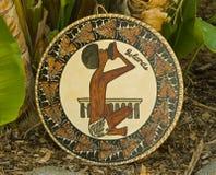 Écran protecteur tropical de travail manuel d'îles de Polynésie. photographie stock libre de droits