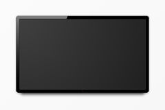 Écran réaliste large de 4k TV Photographie stock libre de droits