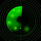 Écran radar Images stock
