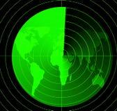 Écran radar Photos stock