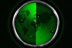 Écran radar Photographie stock libre de droits