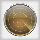 Écran radar Images libres de droits