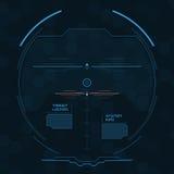 Écran radar de Digital HUD futuriste avec les panneaux datailed Photos stock
