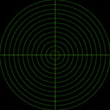 Écran radar vert Photos stock
