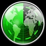 Écran radar vert Photo stock