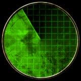 Écran radar vert Photographie stock libre de droits