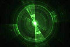 Écran radar vert illustration de vecteur