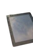Écran tactile cassé par plan rapproché de comprimé Photo stock