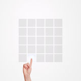 Écran tactile de matrice de pressing de main image libre de droits