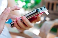 Écran tactile de téléphone Photos stock