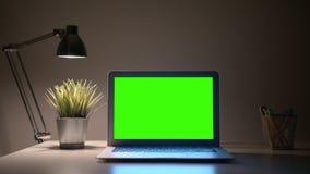 Écran vert d'ordinateur portable photographie stock