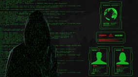 Écran vert de pirate informatique banque de vidéos