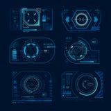 Écran virtuel futuriste Cadre de panneau de hud de surveillance dans le but de cheminement Graphique de processus de technologie  illustration de vecteur