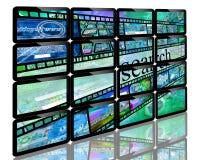 écrans Image stock