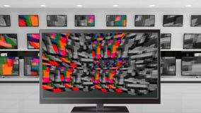 Écrans d'affichage à cristaux liquides avec la charge statique colorée illustration stock