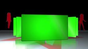 Écrans dans la clé de croma dans une danse de silhouette illustration stock