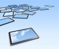 écrans de 3D TV, PC digital de tablette Images stock