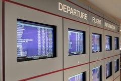 Écrans de l'information de vol de déviation photographie stock libre de droits