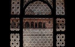 Écrans en pierre découpés - architecture de Mughal Image stock