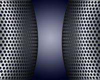 Écrans métalliques avec des trous Images stock