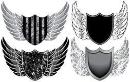 Écrans protecteurs avec des ailes illustration libre de droits